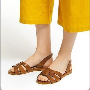 Boden Adora Woven Strappy Flats Slingback Sandals
